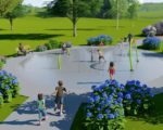 Splash Pad Package A with Hydraulic Activator